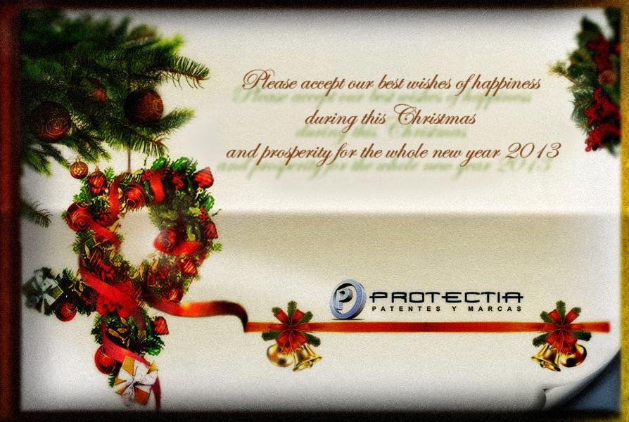 Season's greetings and happy New Year 2013