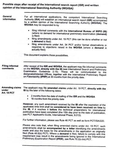 Modificación de las reivindicaciones por el PCT