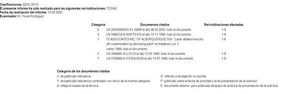 Informe del Estado de la Técnica (I.E.T.)