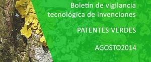 Boletines de vigilancia de patentes verdes agosto 2014