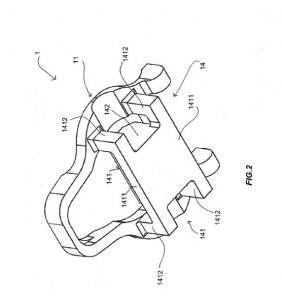 dibujo de patente cuerpo para pedal instrumentado
