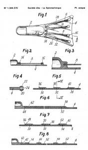 Aleta inventor Cousteau patente FR1344379A