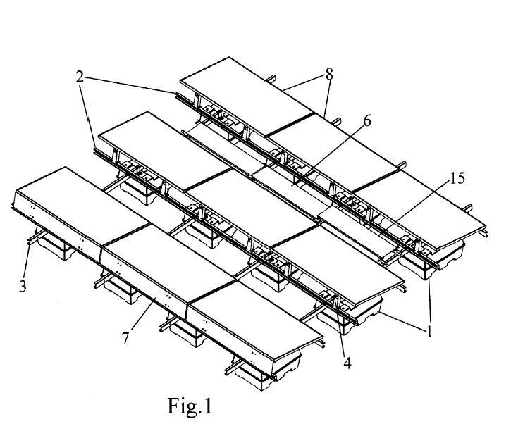 estructura flotante para la sujecion de paneles fotovoltaicos