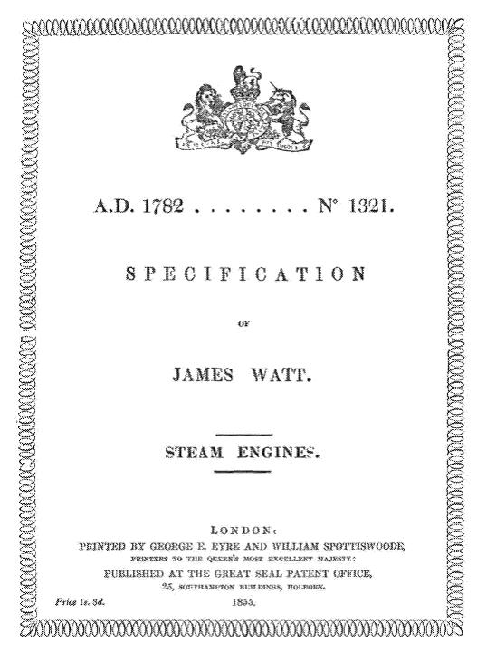 steam engines patent