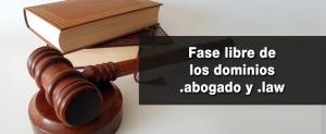 dominios abogado y law fase libre