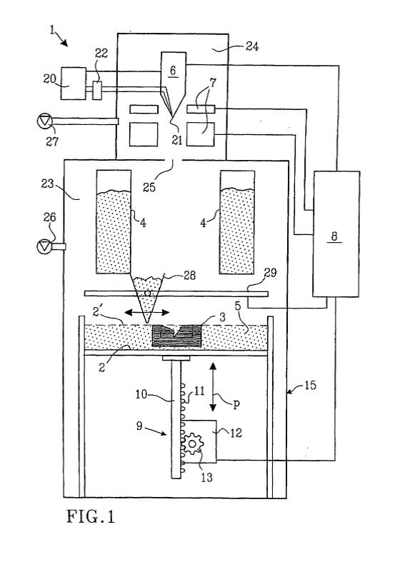patente impresora arcam