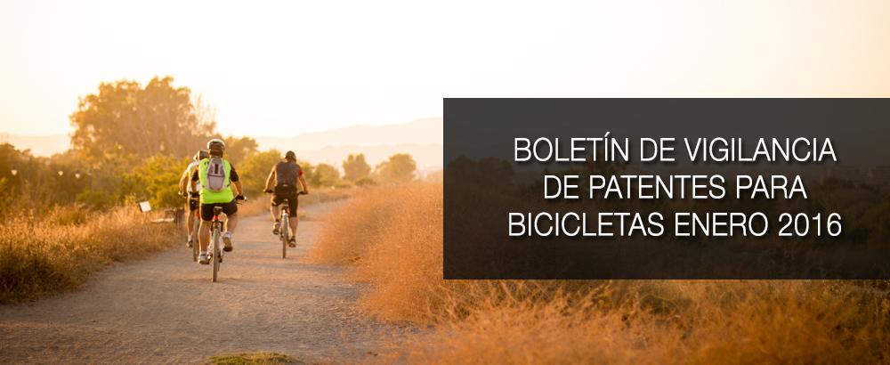 boletin de vigilancia de patentes para bicicletas enero 2016