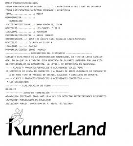 runnerland registro marca
